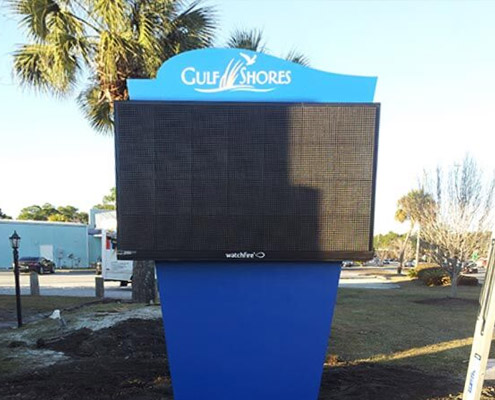 Aerial Signs and Awnings digital-message Home